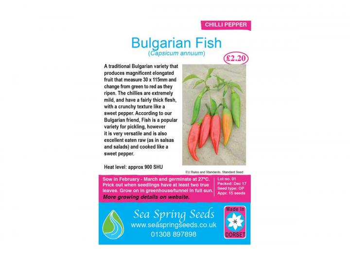 Bulgarian fish chilli seeds