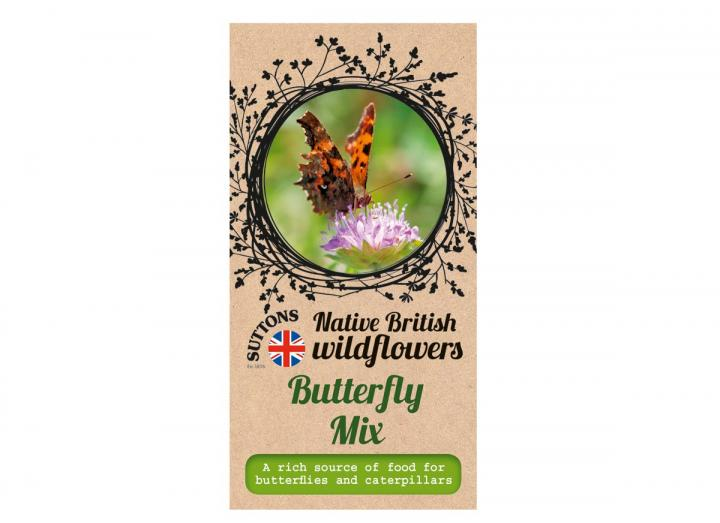 Native British wildflower butterfly mix seeds