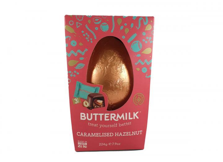 Buttermilk caramelised hazelnut egg