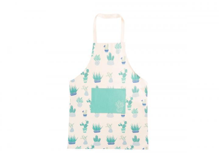 Eden Project cactus print organic cotton apron