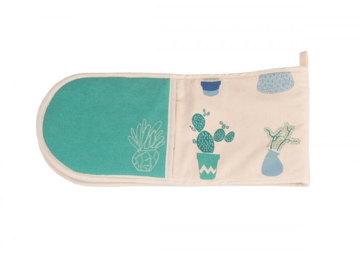 Eden Project cactus print organic cotton double oven glove