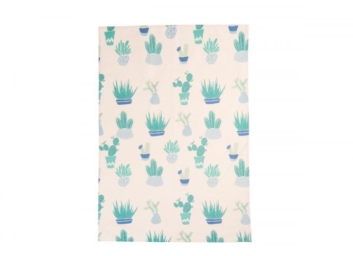 Eden Project cactus print organic cotton tea towel