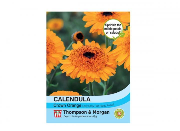 Calendula 'crown orange' seeds from Thompson & Morgan