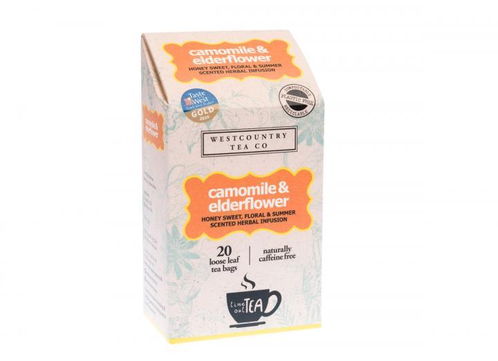 Westcountry Tea Co. Camomile & Elderflower tea 20 tea bags 30g