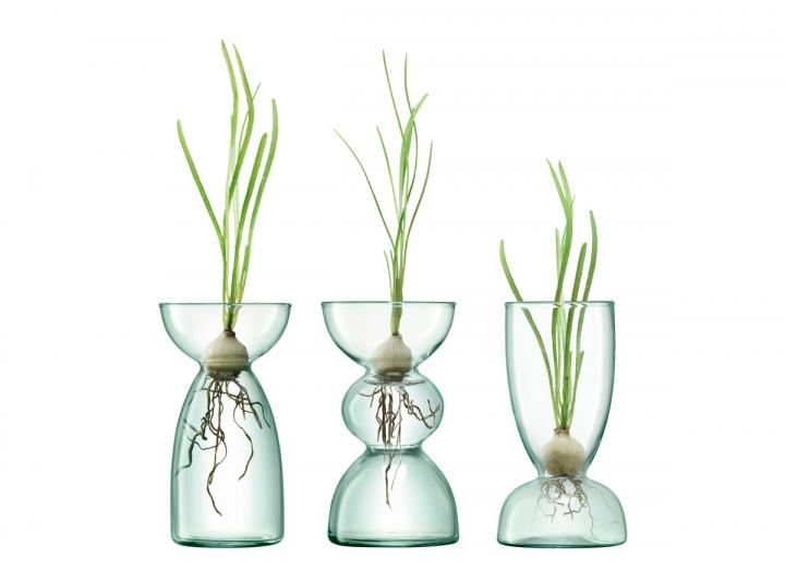 Trio of vases, part of the Canopy range from LSA International