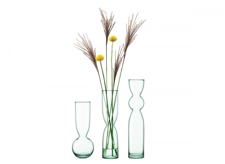 Eden Project canopy vase trio set 25cm, recycled glass vases from LSA International