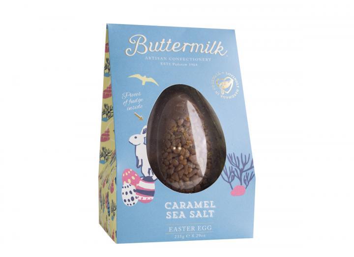 Buttermilk caramel sea salt Easter egg