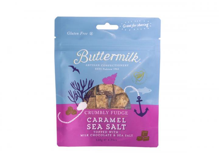 Caramel sea salt fudge pouch from Buttermilk Confections