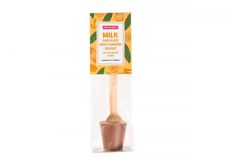 Caramel seasalt hot chocolate spoon, Eden Project branded