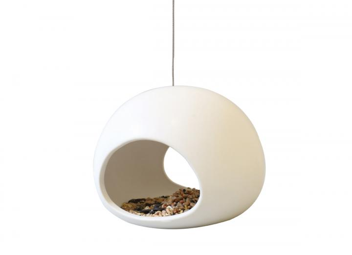 Ceramic bird feeder, Eden branded