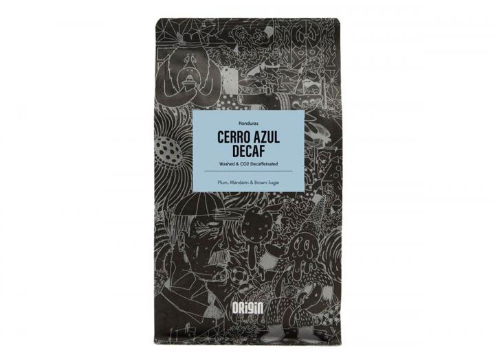 Cerro Azul decaf ground coffee from Origin in Cornwall