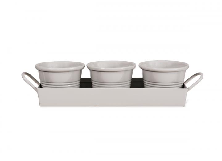 Chalk set of 3 pots from Garden Trading
