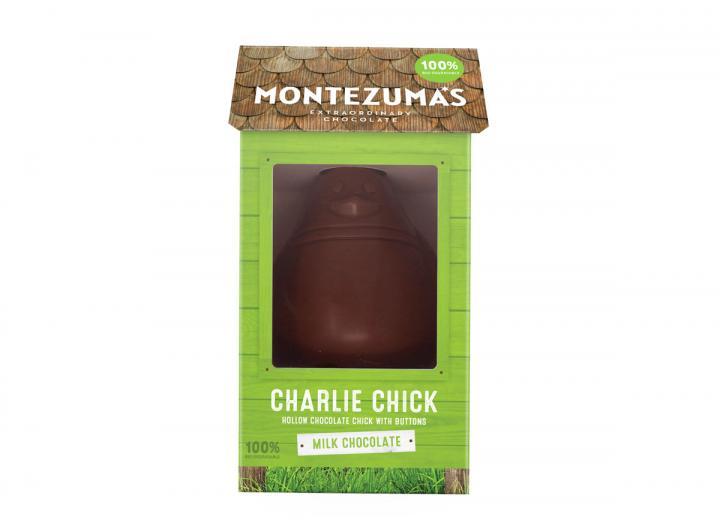Montezuma's Charlie chick milk chocolate button egg 100g