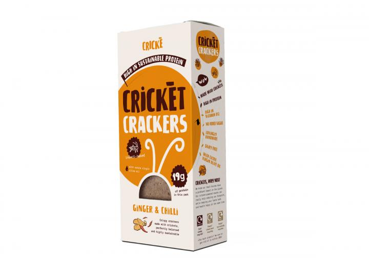 Chilli & ginger cricket crackers