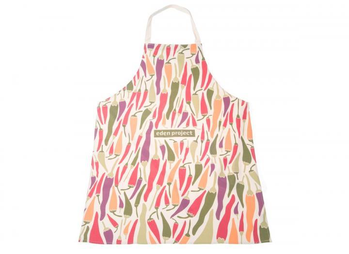 Organic cotton apron with chillies apron