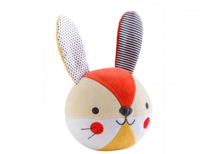 Organic cotton soft chime ball bunny