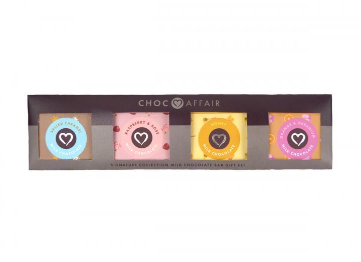 Choc Affair milk chocolate 30g bar gift set