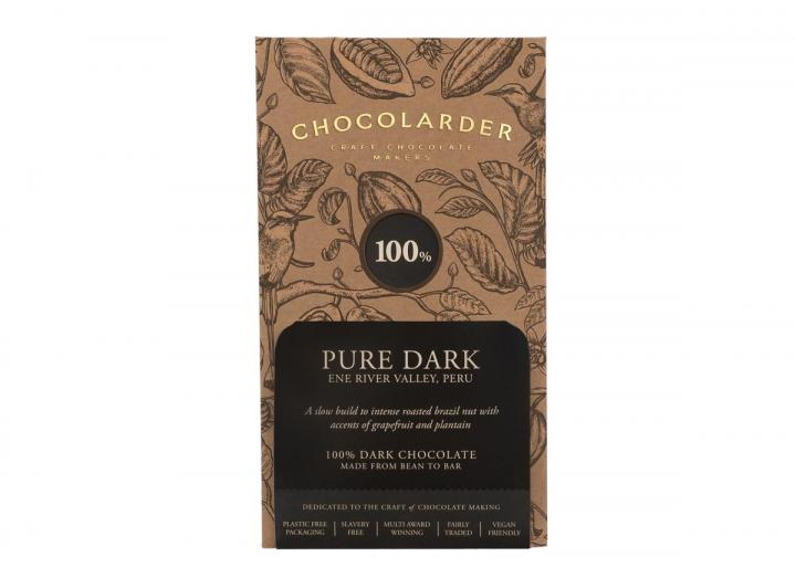 Chocolarder 100% pure dark chocolate bar