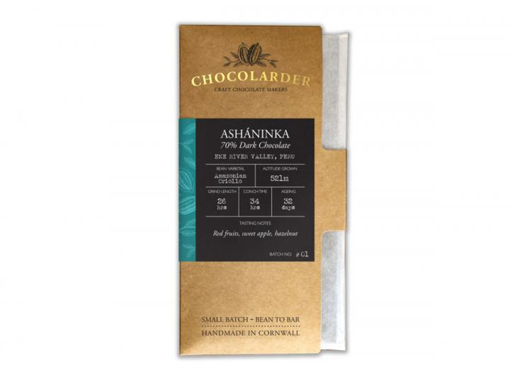 Chocolarder ashaninka 70% dark chocolate bar