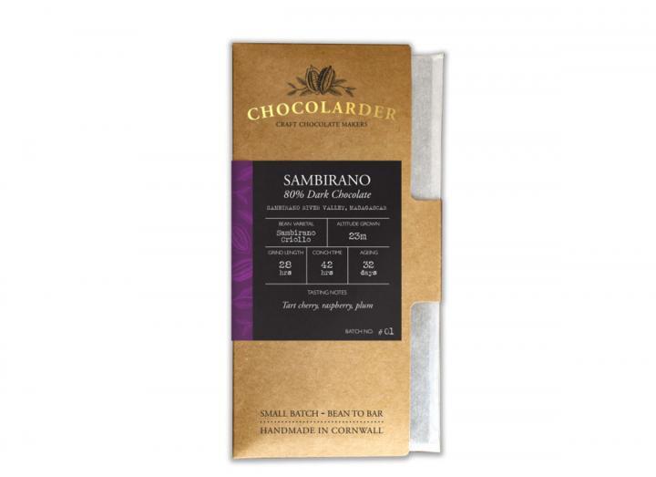 Chocolarder sambirano 80% dark chocolate bar