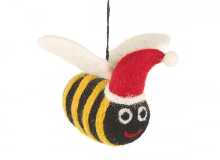 Felt Christmas bumblebee hanging decoration