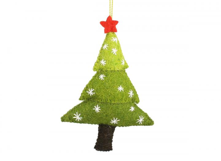 Christmas tree with stars hanging decoration from Fiona Walker England
