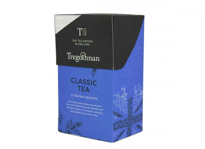 Tregothnan classic tea 21 tea bag sachet box