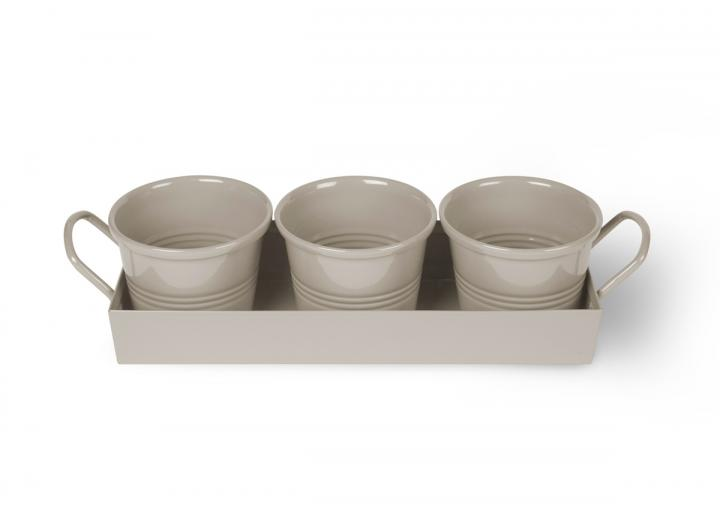 Clay set of 3 pots from Garden Trading
