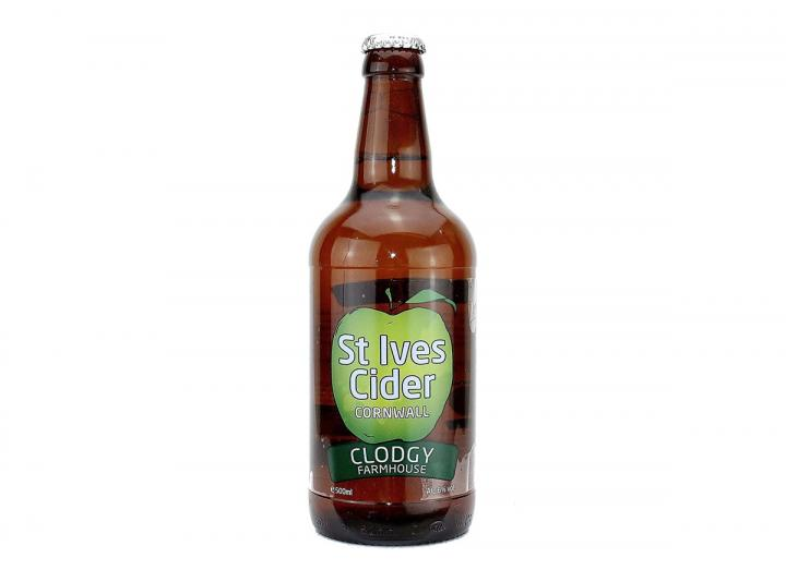 Clodgy farmhouse cider, produced in Cornwall by St Ives Cider