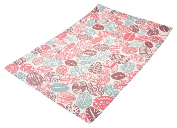 Organic cotton tea towel with coffee bean design