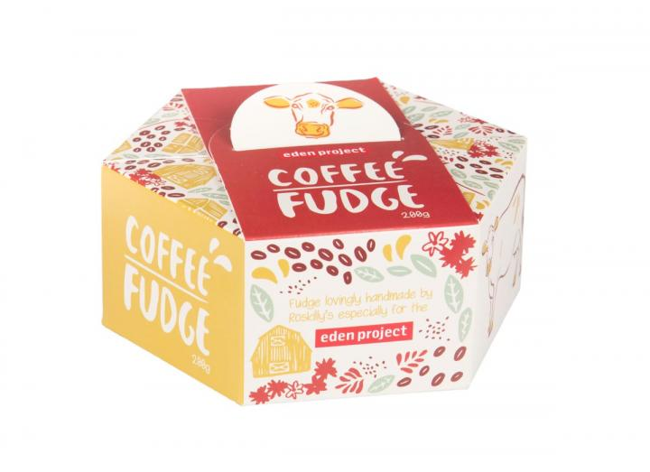 Eden Project coffee fudge, handmade in Cornwall by Roskilly's