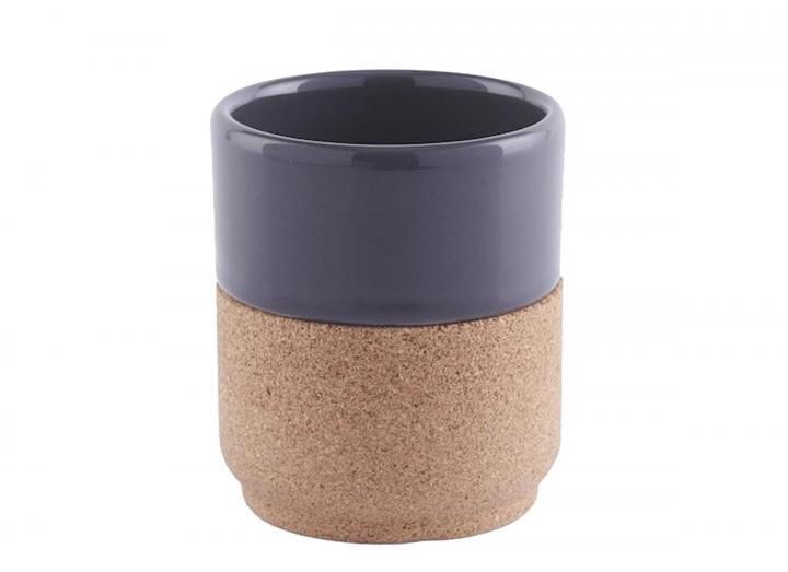 Ceramic & cork mug