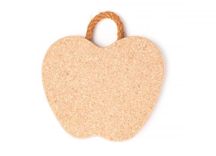 Cork apple trivet