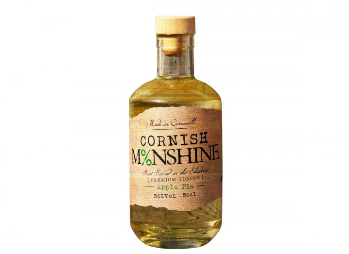 "Cornish Moonshine ""Apple Pie"" white corn whiskey 50cl"