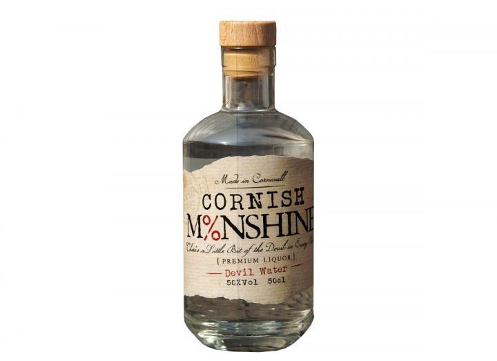 "Cornish Moonshine ""Devil Water"" white corn whiskey 50cl"