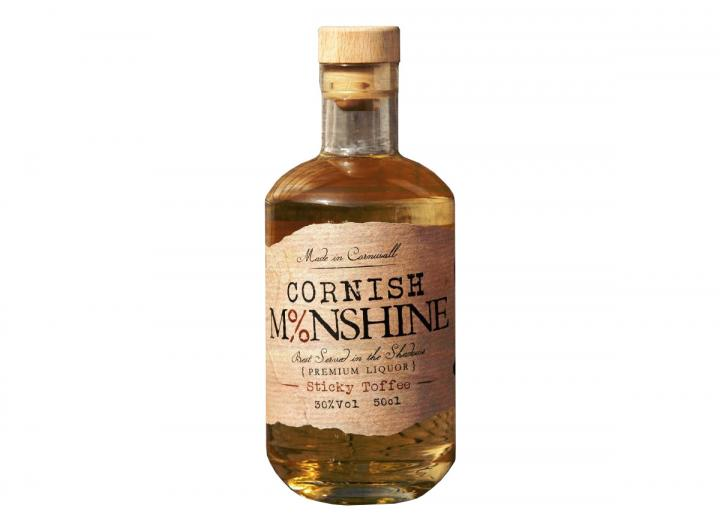 "Cornish Moonshine ""Sticky Toffee"" corn white whiskey 50cl"