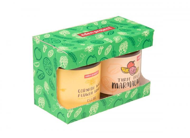 Eden Project Cornish wildflower honey & marmalade gift set