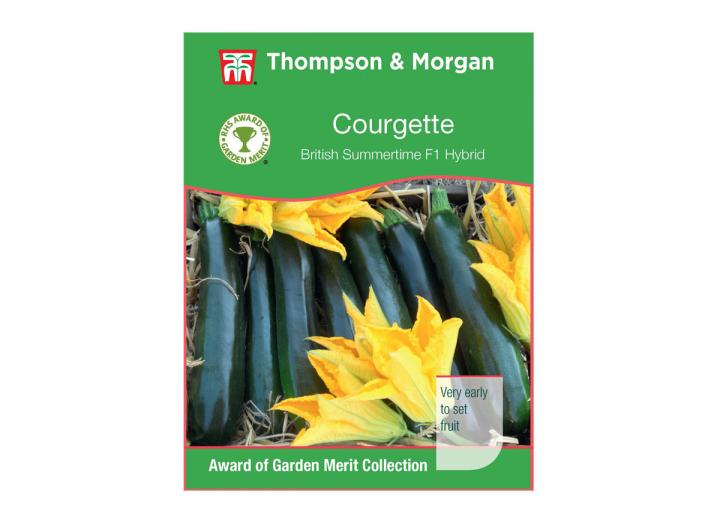 Courgette 'British summertime f1 hybrid' seeds from Thompson & Morgan