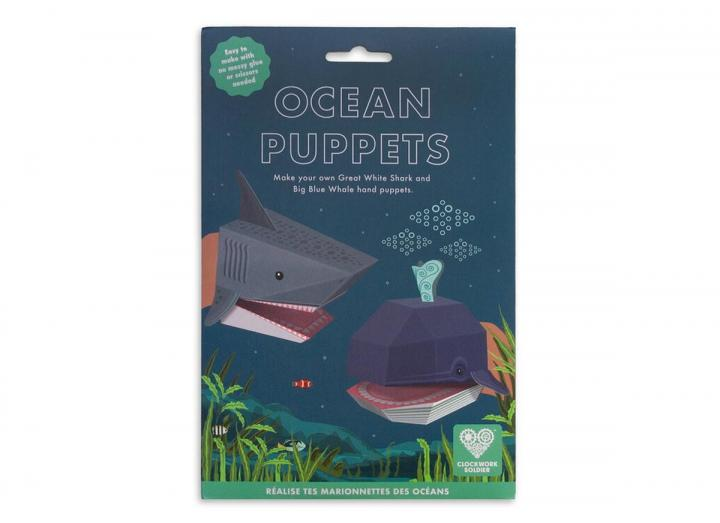 Create your own ocean puppets