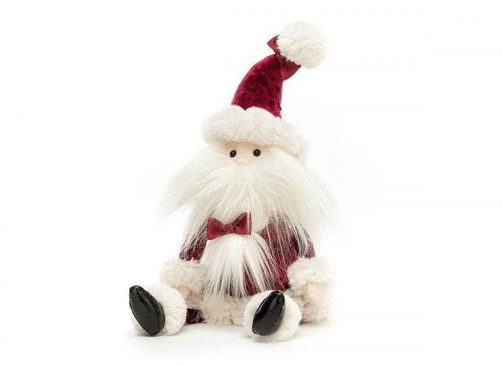 Jellycat crimson santa cuddly toy from Jellycat