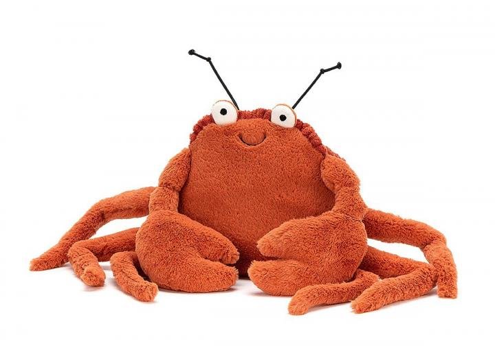 Crispin crab cuddly toy from Jellycat