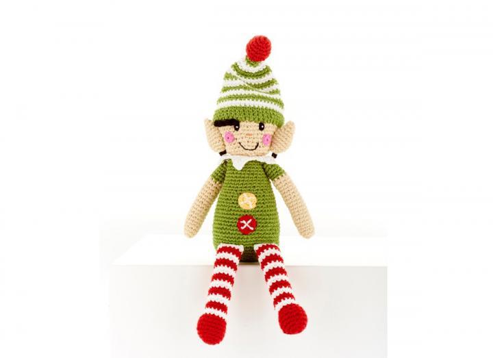 Crochet elf rattle