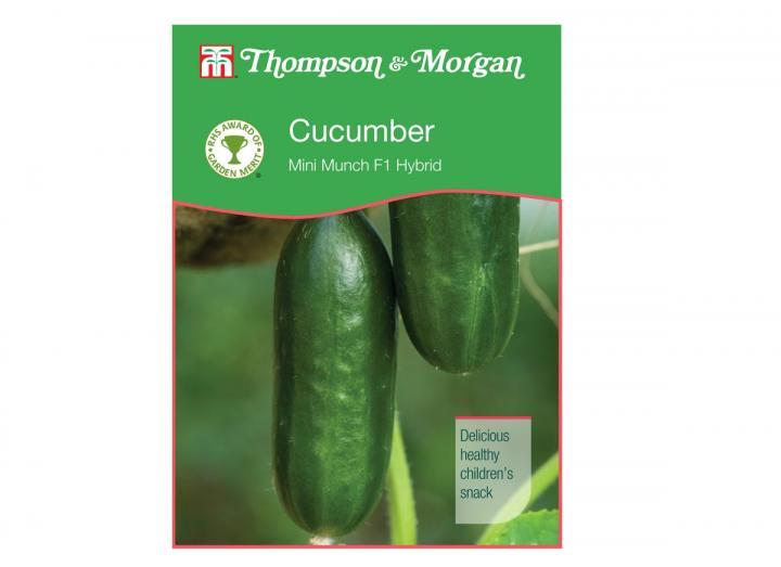 Cucumber 'Mini Munch F1 Hybrid' seeds from Thompson & Morgan