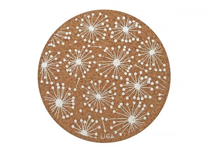 Cork dandelion placemats & coasters