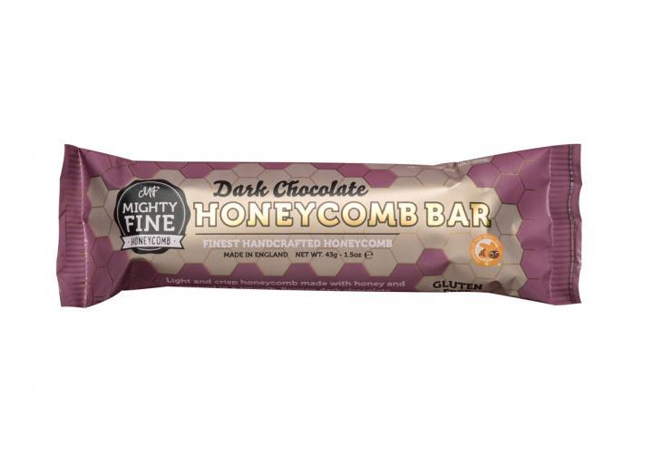 Dark chocolate coated honeycomb bar