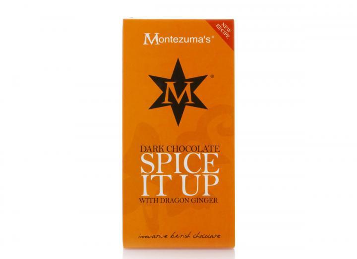 "Montezuma's dark chocolate with dragon ginger ""spice it up"" bar"
