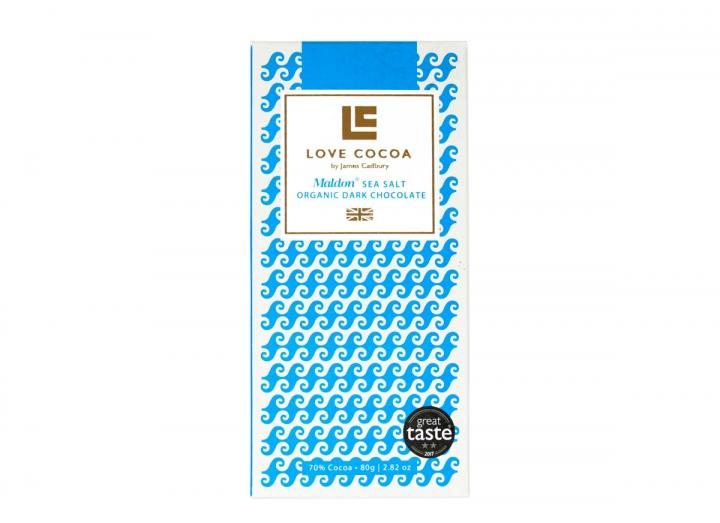 Love Cocoa dark chocolate with Maldon sea salt 80g