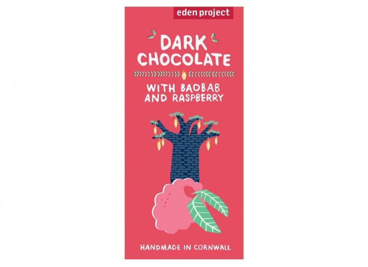 Dark chocolate with baobab & raspberry