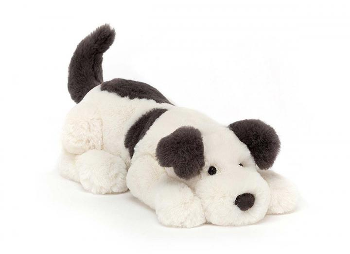 Dashing dog cuddly toy from Jellycat
