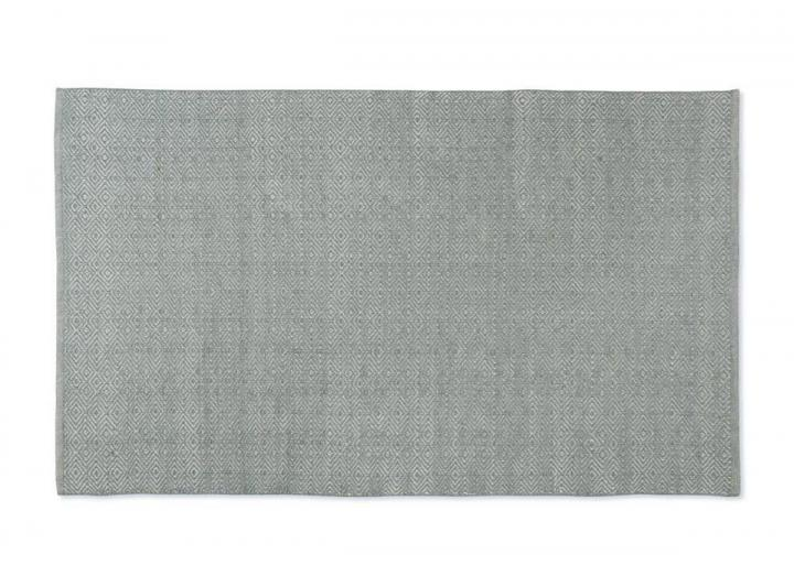 Diamond design rug in dove grey from Weaver Green